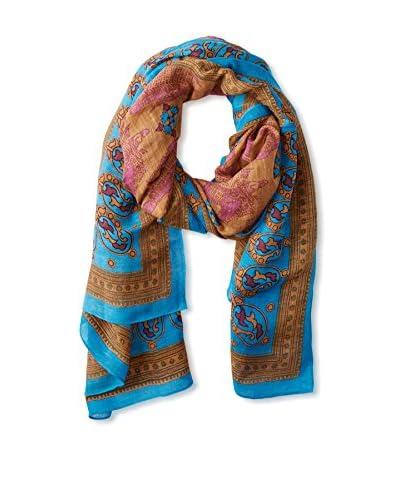 Theodora & Callum Women's Mumbai Tie All Scarf, Turquoise Multi