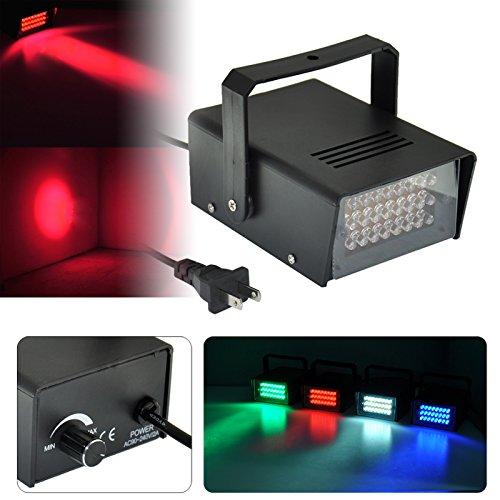 Mini Disco 24 LED, bombilla de iluminación, para Dj, con luz estroboscópica, luz de flash, para iluminación del club, disco y bar, luz roja.