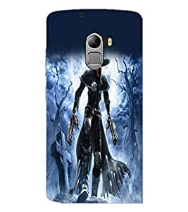 PrintDhaba Warrior D-2078 Back Case Cover for LENOVO K4 NOTE A7010a48 (Multi-Coloured)