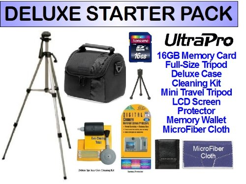 Deluxe 16Gb Sd Memory Starter Package For The Jvc Gz-Hm960B, Gz-E10, Gz-E200, Gz-Ex210, Gz-Ex250, Gz-Ex310 Everio Hd Camcorders. Includes Everything You Need To Get Started!