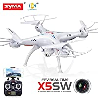 Cheerwing Syma X5SW FPV Explorers2 2.4Ghz 4CH 6-Axis Gyro RC Headless Quadcopter Drone UFO with 2MP HD Wifi Camera (White)