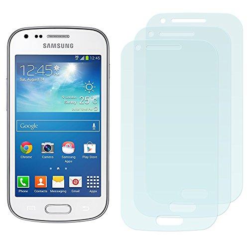 3 x Filmex Displayschutzfolie Samsung Galaxy Trend Plus (GT-S7580) - Klar Unsichtbar Aufkleber Schutzfolie, Premium-Qualität Japan PET-Folien, Lebenslange Garantie