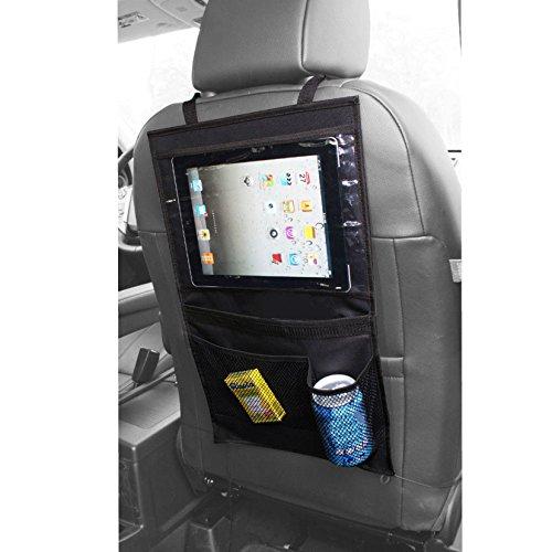 AikeSweet Auto Sedile posteriore Organizzatore, Toccare Schermo Borse per ipad, multitasche per il bambino, bambini Tidy Organizzatore (Nero)