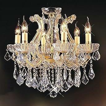 restaurant de luxe sechs kopf der kristall kronleuchter. Black Bedroom Furniture Sets. Home Design Ideas