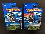 Lot of 2 HONDA CIVIC SI Hot Wheels 2006 Mattel J3269 both Gold & Silver rims