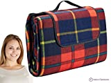 Extra Large Picnic & Outdoor Blanket with Waterproof Backing - Red 60 x 80 inches