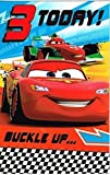 Disney Cars 3 today ! buckle up...Age Greeting birthday card