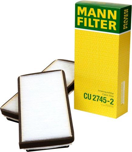 Mann-Filter CU 2745-2 Cabin Filter for select  Mercedes-Benz models -Set of 2