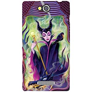 Sony Xperia C Phone Cover -Drawing Matte Finish Phone Cover