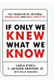 If Only We Knew What We Know: The Transfer of Internal Knowledge and Best Practice