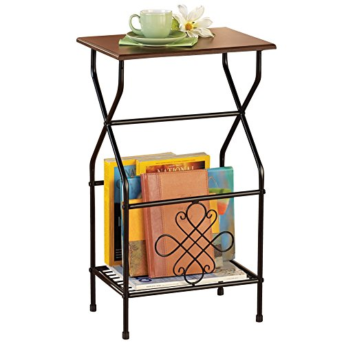 Side Table with Magazine Holder