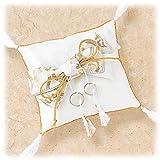 綿20gと糸付き スクエアの和風リングピロー「ご縁結び」手作りキットセット横15cm×縦14cm 【結婚式 手芸パック】