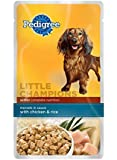 PEDIGREE LITTLE CHAMPIONS Healthy Maturity Morsels In Sauce With Chicken & Rice Wet Food for Small Senior Dogs, 5.3-Ounce Pouches (Pack Of 24)