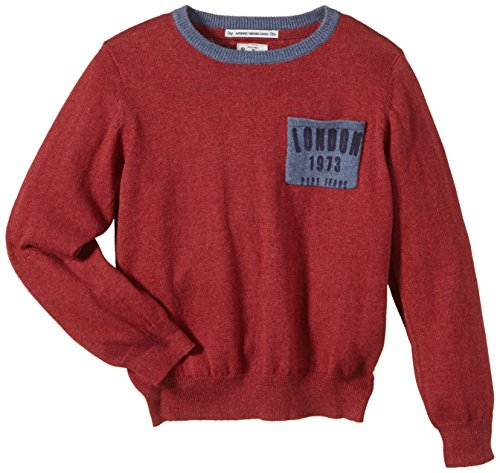 Pepe Jeans Jungen Pullover COLLIN, Gr. 176 (Herstellergröße: L), Rot (APPLE 642)