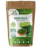 Moringa Oleifera Leaf Powder Organic 4oz 1/4lb. Non GMO multivitamin for metabolism, weight loss, protein & mood boost - in smoothies & shakes - vegans & vegetarians - iron & amino acids supplements