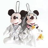 ミッキー & ミニー ディズニーウェディング  チェーンバッジ ぬいぐるみバッジ ぬいば 東京 ディズニーリゾート限定