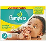 Pampers New Baby Jumbo Nappies - Size 3 (Midi), Pack of 68