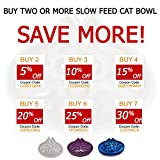 Simply Pets Online   Slow Feed Cat Bowl   Small breed dog feed bowl   Slow Feed Bowl For Pets - Slow Down Eating - Eco-friendly Durable Non Toxic Bamboo Fibre- Designed By 2 Veterinarians (Blue)