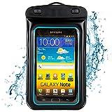 Waterproof Case Dry Bag Pouch for Samsung Galaxy Note 3 / Note 2 / S5 / S4 /Nokia Lumia 1020 / 925 / 928 / HTC ONE M8 / Sony Xperia Z1 / Z2 / LG G2 / G3 / Moto G 4G 8GB 16GB (Black/Blue)