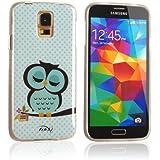 tinxi� Design Schutzh�lle f�r Samsung Galaxy S5 H�lle TPU Silikon R�ckschale Schutz H�lle Silicon Case Cover Etui Schale hellgr�ne Eule