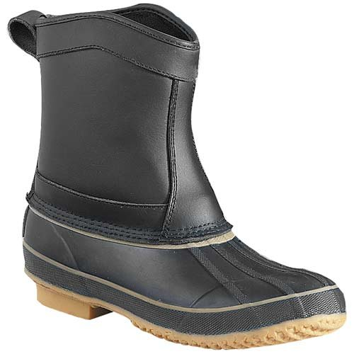 Itasca Ontario Cold Weather Leather/Rubber Navy Boot Womens