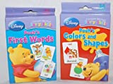 Set of 2 Winnie the Pooh Baby First Words & Colors & Shapes Flash Cards