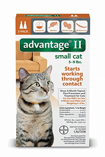 Advantage II for Small Cats (5 - 9 lbs, 2 Months Supply) (Advantage Ii For Dogs Small compare prices)