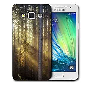 Snoogg Sunlight In Forest Printed Protective Phone Back Case Cover For Samsung Galaxy A3
