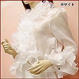 トップス オーガンジー シースルー ボレロ フラメンコ 衣装 社交ダンス 合唱 演奏会 オーケストラ 白 ホワイト