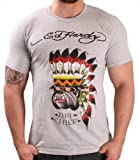 Ed Hardy By Christian Audigier Bulldog Chief Mens T-Shirt Crewneck Tee