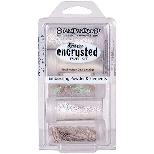 Stampendous Encrusted Jewel Embossing Powder & Elements-White (Mica Crystal compare prices)