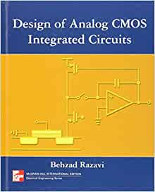 Design Of Analog Cmos Integrated Circuit Amazon Co Uk
