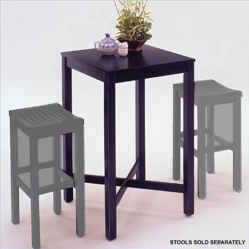 Home Styles Furniture Contour Black Solid Wood Pub Table