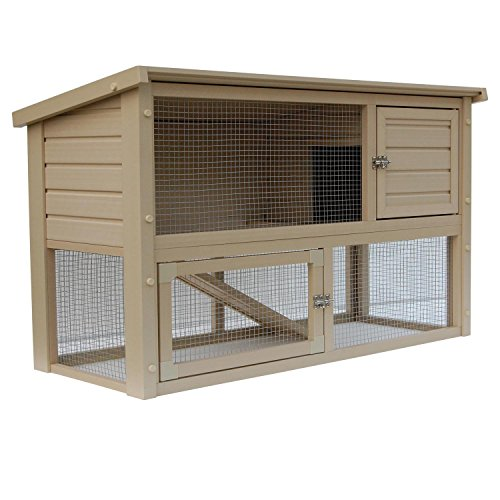 New-Age-Pet-Eco-Concepts-Columbia-Rabbit-Hutch-with-Pen-439-L-X-193-W-X-293-H