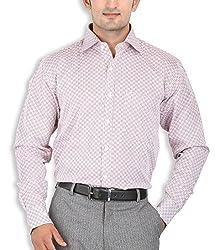SPEAK Men Compact Cotton Formal Shirt (1968096031_Rose Wood_Medium)