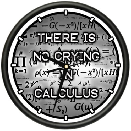 CALCULUS Wall Clock math mathematics teacher numbers formulas no crying gift donald smith j bond math the theory behind the formulas