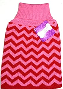 "GIRL DOG PINK CHEVRON ""UGLY"" SWEATER Christmas Holidays Winter Pet Turtleneck SMALL from Horizon"