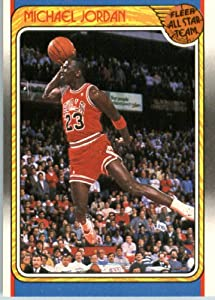1988 89 Fleer Basketball Card #120 Michael Jordan Chicago Bulls Encased Sports Card by Fleer+NBA