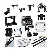 (inkint)アクションカメラ 4K 高画質 30メートル防水 2インチLTPSディスプレイ WiFi機能搭載 170度広角レンズ カメラアクセサリー付 ウェアラブルカメラ 32GB SDカードサポート 自転車やバイクに取り付け可能 ブラック