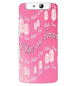 ColourCraft Love Quote Design Back Case Cover for OPPO N1