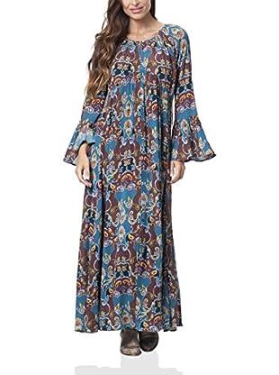 Peace & Love Vestido Largo (Azul)