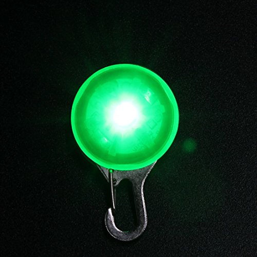 Green Dog Safety Led Light Clip For Collar Peg Cat Night