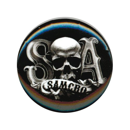 Sons Of Anarchy S Skull A Samcro Button - 1