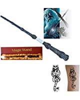 New LED Harry Potter Sirius Magical Light Up Magic Wand Free Tattoo (Harry Potter)