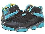Nike Mens Air Jordan 6 Rings Basketball Shoes Black/Gamma Blue/Varsity maize 322992-089 Size 11
