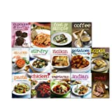 Various Everyday 100 Recipes Collection 14 Books Set, (100 Everyday Fast & Simple, Cupcakes & muffins, Sauces, Vegetarian, Tapas, Meat, Potatoes, Stir-fry, Coffee, Italian, Chicken, Pasta, Indian, One Pot)