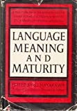 Language, Meaning and Maturity (0060024305) by S I Hayakawa