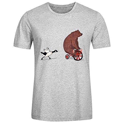 Bear And Goose Tee For Men Grey (City Of Kokomo Jobs)