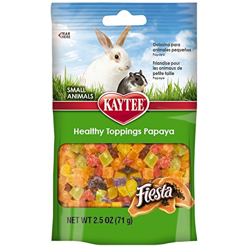 Kaytee Fiesta Healthy Treat for Small Animal, 2.5-Ounce, Papaya Toppings