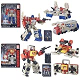 Transformers Generations Titans Return Leader Wave 1 Set of 2 Action Figure ( AUTOBOT BLASTER & POWERMASTER OPTIMUS PRIME)